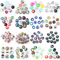 10pcs Randomly Mix 3D 18mm Snaps Chunk Charm Button for Noosa Snaps Jewellery