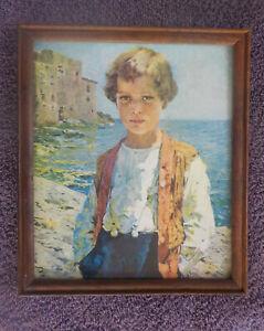 Sea Dreams Lucas Robiquez Original framed Vintage Print