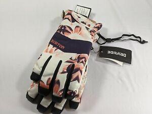 BURTON Womens Snowboard Snow Prospect Under Gloves Floral Purple XL