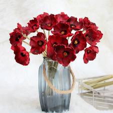 10Pcs Artificial Poppy Flowers Decorative Silk Flowers Wedding Party Home Decor