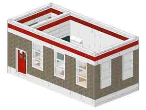 Bauanleitung instruction Feuerwehrwache Schulungsraum Eigenbau Moc au Lego Basic