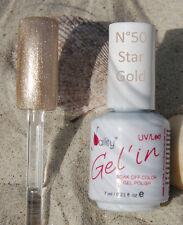 Vernis Semi Permanent n°50 Star Gold 7ml NAILITY UV/LED/CCFL GEL POLISH USA