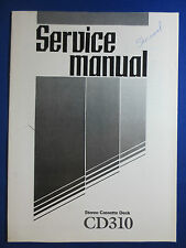 SHERWOOD CD310 CASSETTE DECK SERVICE MANUAL ORIGINAL FACTORY ISSUE
