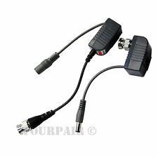5 Pair CCTV Coax BNC Video & Power Pigtail Balun Transceiver Adapter to CAT5e 6