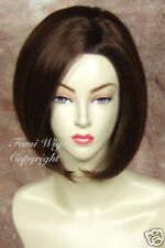 Silky Face Frame Wig in Dark Cherry Brown /100% Japanese Fibre Brilliant Quality
