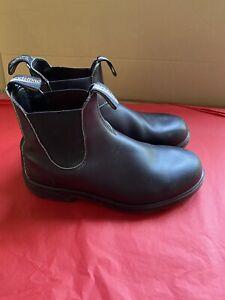 BLUNDSTONE BOOTS BLACK Black Leather SIZE 8 Mens UK8