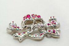Hand encrusted Skull Belt made with Swarovski Crystal