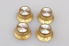 Knobs Gold Dorados Potenciometro 6 mm. Guitarra Eléctrica 2 Volume 2 Tone Knöpfe