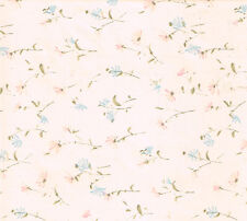 Pink Blue Cream Flower Floral Vinyl Contact Paper Shelf Drawer Liner Peel Stick