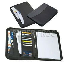 A4 Business Folder Travel Document Organiser Holder Conference Portfolio Zipped
