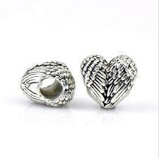 5PCS Charm Alloy  Big Hole Beads fit European Silver Bracelet DIY-- HJ017#
