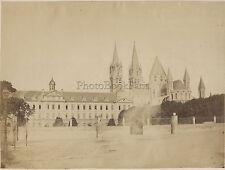 Abbaye aux Hommes Caen France Vintage albumen ca 1870