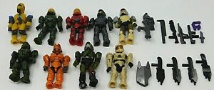 Mega Bloks Halo Figure Lot of 7 with Weapons