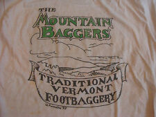The MOUNTAIN BAGGERS traditional Vermont FOOTBAGGERY 1987 t-shirt L stained RARE