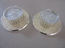 2 X Diamanate Champagne Pearl Tealights Candle Wedding/Bridal Table Decoration