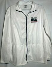 Team USA Olympic Jacket Light Weight Zip Up Size L Unisex Embroidered Logo NWOT