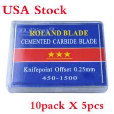 USA 10 Packs 45 Degree Roland Vinyl Cutter Blades Cutter, N Grade 5pcs/ pack