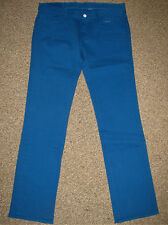 NEW! LOOMSTATE Organic Cotton Straight Denim JEANS 32 $133 Cobalt BLUE
