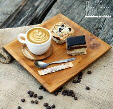 Wooden Italian Coffee Tray Vintage Style For Snacks And Treats.