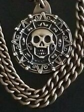 DISNEY MASTER REPLICA CURSED AZTEC GOLD COIN MEDALLION NECKLACE PIRATES