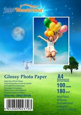 More details for 100 sheets 180gsm a4/a5/6x4/13x18 highglossy photo paper for inkjet printers lw
