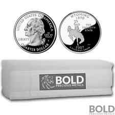 2007-S Silver Proof State Quarter Roll (40 Coins) - WYOMING