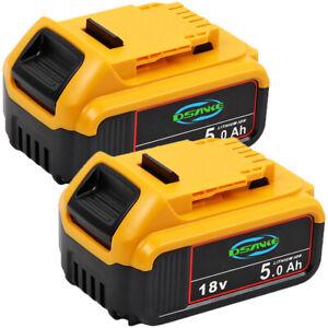 DCB184 2 Pack 5Ah Für DeWalt Akku 18V Li-Ion XR Li-Ion DCB200 DCB205 DCB182-XJ