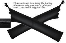 BLACK STITCH 2X A POST PILLARS LEATHER COVERS FITS SUBARU IMPREZA WRX STI 08-13