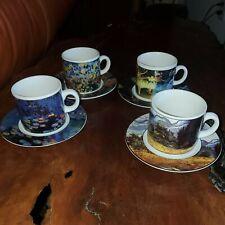 Sakura Set/4 Demitasse Cup & Saucer Museum Masters Vincent Van Gogh Degas Monet