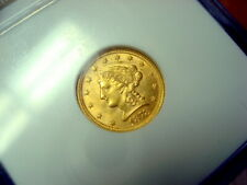 1878 $2.50 Gold Liberty Head, OLD SLAB NGC MS62  MINTAGE:286,260 #020