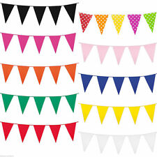 10M Bunting 20 Flag Blue Pink White Red Green Home Colour Wedding 33Ft Rainbow