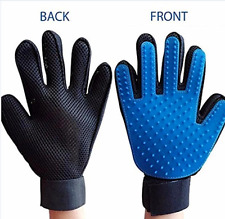 TRUE TOUCH FIVE FINGER DESHEDDING GLOVE PET GROOMMING THE HAIR AWAY
