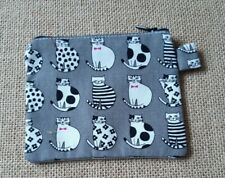 Large  small  Bag handmade fully linned  Zip to close  cats .
