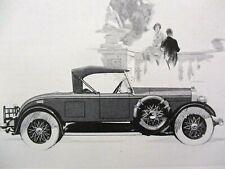 Vintage Lincoln Sport Roadster Print Ad 1926 Original Advertising