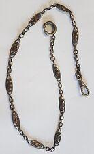 Ancien Chaîne de montre à gousset en argent massif maillons filigranes RefV472