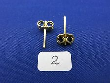 14K Gold Friction Push Back Earrings Backs w. Posts Large Heavy (1 Pair) item #2