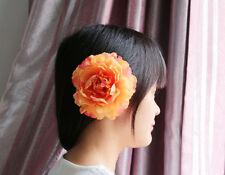 Silk peony Hair Accessory Flower wedding Beach Prom party bridal Hair Clip Pin