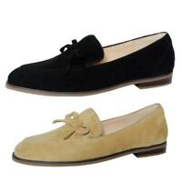 New Women's Casual Round Toe Flats Shoes Slip on Loafers Bowknot Pattern Shoes L