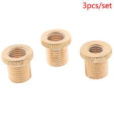 3pcs Gear Shift Knob Thread Adapter Nuts Insert M10x1.25 & M10x1.5 & M8*1.25 2Y