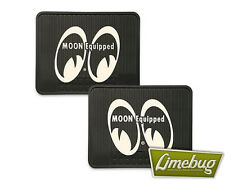 Mooneyes Rubber Car Floor Mats Equipped Moon VW Beetle Mat Hotrod Resto T3 Ghia