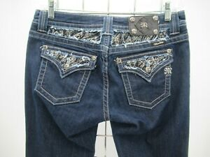 P4589 VTG Women's Miss Me Embellished Easy Boot Cut Jeans Size 30