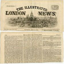 More details for 1865 illustrated london news piece of newspaper president lincoln assassination