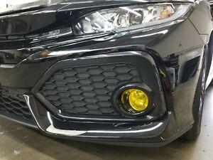 17-21 Civic SI CTR Type R Yellow Fog Light Overlays JDM Mugen Tint Wrap PRECUT