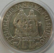 1966 Poland Polen 100 zl zlotych Silver 900 Mieszko Dabrowka Polish Millennium