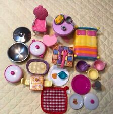 Doll House Furniture, Mixed Lot Of 32 Pieces~Mattel & Etc.