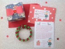 Personnalisé Noël Elf lettre, Bracelet, Boîte Cadeau, Noël