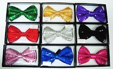 Sequin Bow Ties - Adjustable Multi Use Bow Tie - Neckwear & Hair Bow Accessory