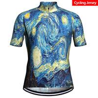 2020 Men's Women Cycling Jersey Short Bicycle Bike Motocross MTB Bib Shirt Top