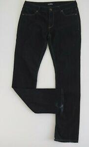 SABA Womens Classic Fit Jeans Size 30 Mid Rise Straight Leg Dark Blue Denim VGC