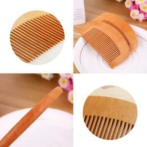 Mens Top Quality Wooden Beard Comb Moustache Handmade Mahogany Pocket Wax Oil UK